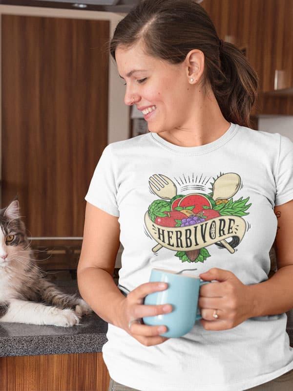 herbivore vegan t shirt met tekst