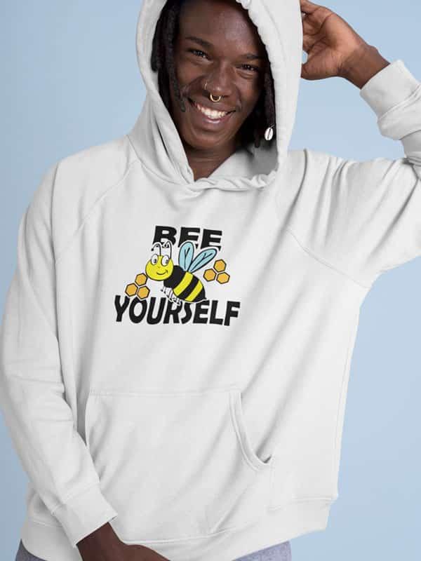 hoodie be yourself gekleurde bee