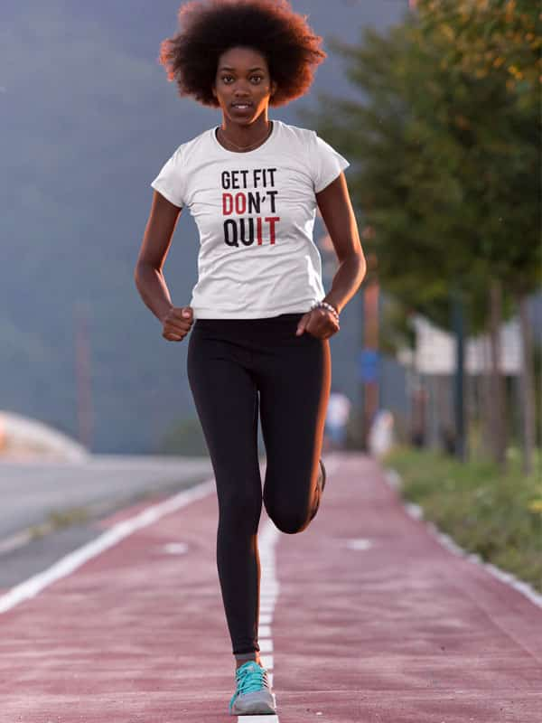 get fit don t quit fitness shirt