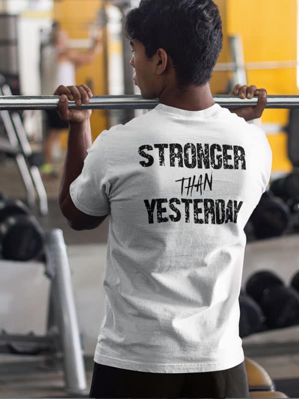 stronger than yesterday T-Shirt Wit