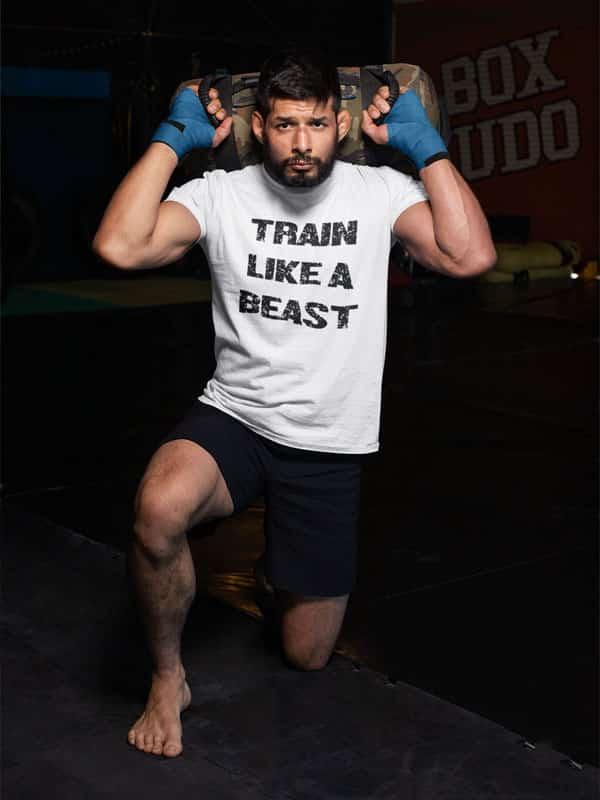 train like a beast fitness shirt
