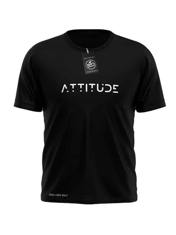 Attitude T-Shirt Zwart