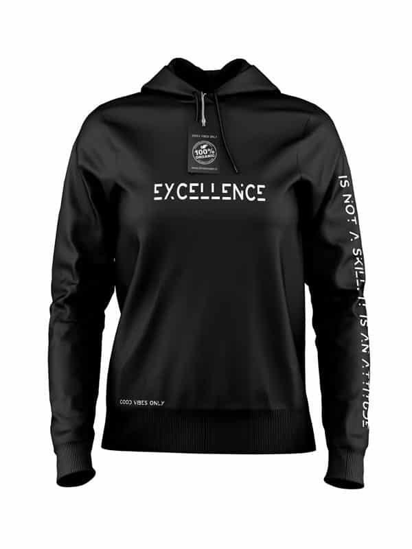 Excellence Hoodie Zwart
