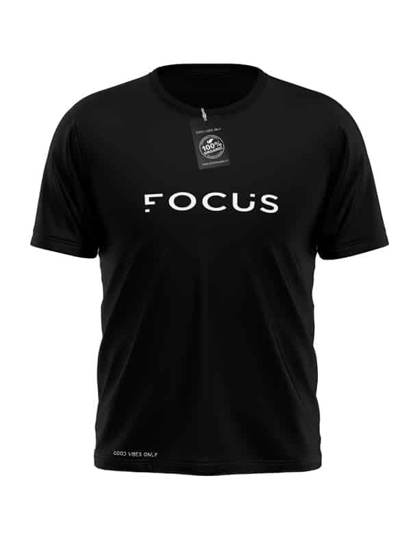 Focus-T-Shirt-Zwart