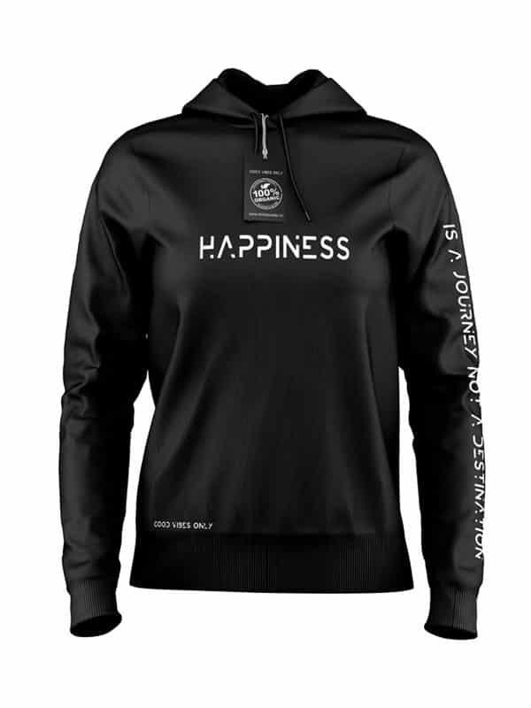 Happiness Hoodie Zwart