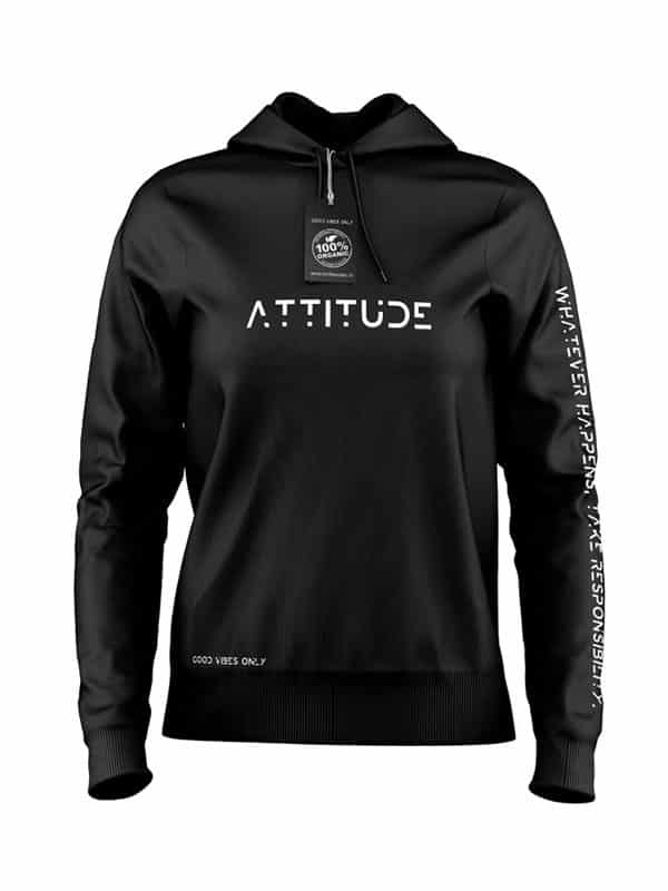 Hoodie Attitude Zwart