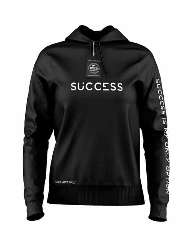 Hoodie Success Zwart