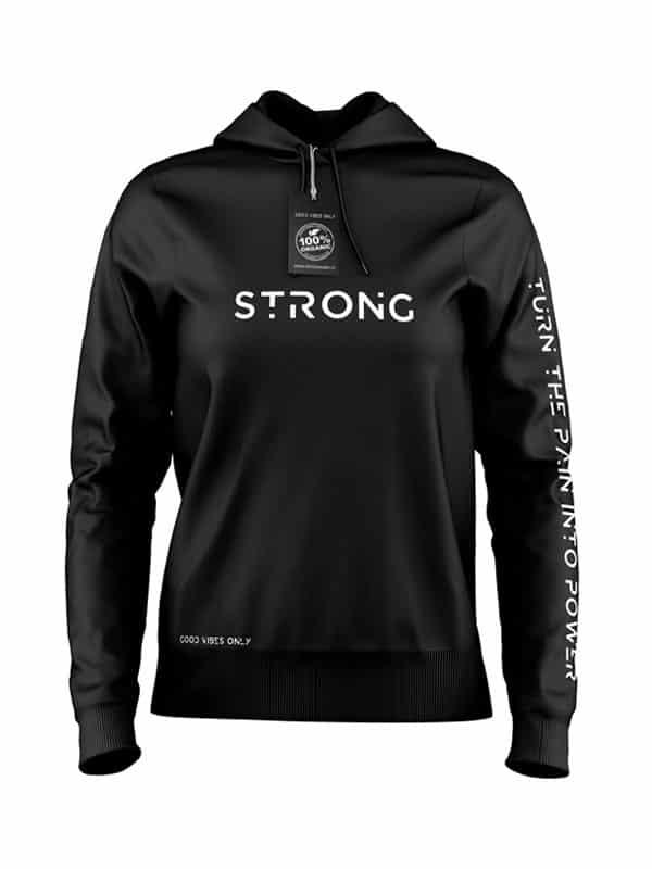 Strong Hoodie Zwart