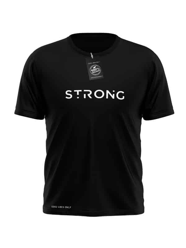 Strong T-Shirt Zwart