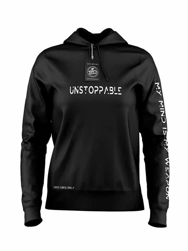 Unstappable Hoodie Zwart