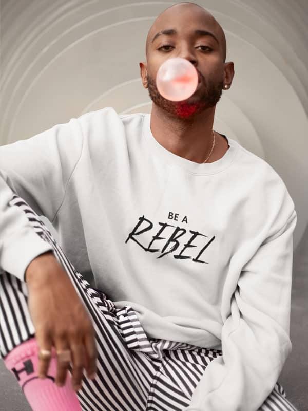 be a rebel hoodie wit
