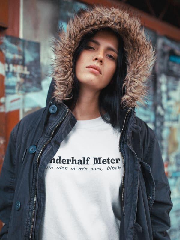 Anderhalf Meter Don t Come in my Aura B itch Trui met Tekst