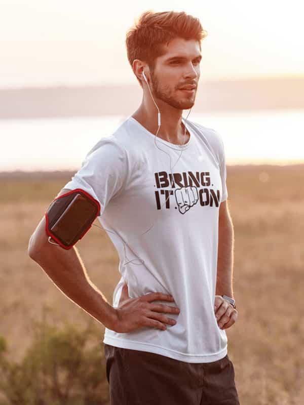 trendy fitness T-Shirts bring it on tekst