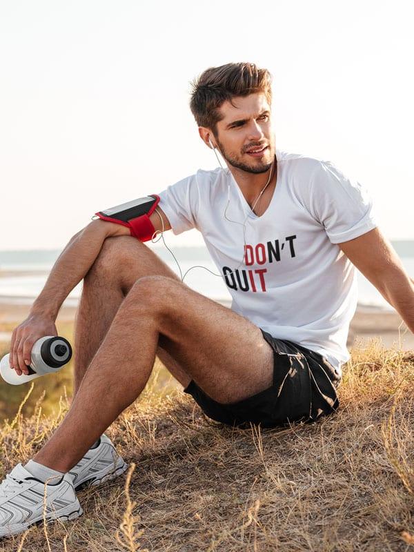trendy fitness T-Shirts don t quit tekst