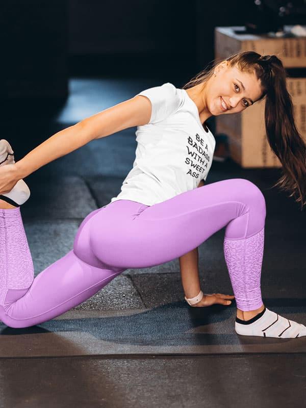 Be a Badass with a Sweet Ass Sport Fitness Dames Shirt