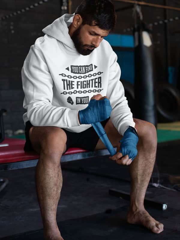 You Can Find the Fighter in You Boxing Hoodie