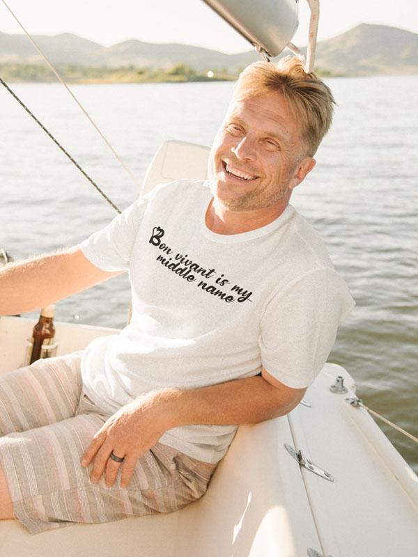 Bon Vivant is My Middle Name Mannen T-Shirt
