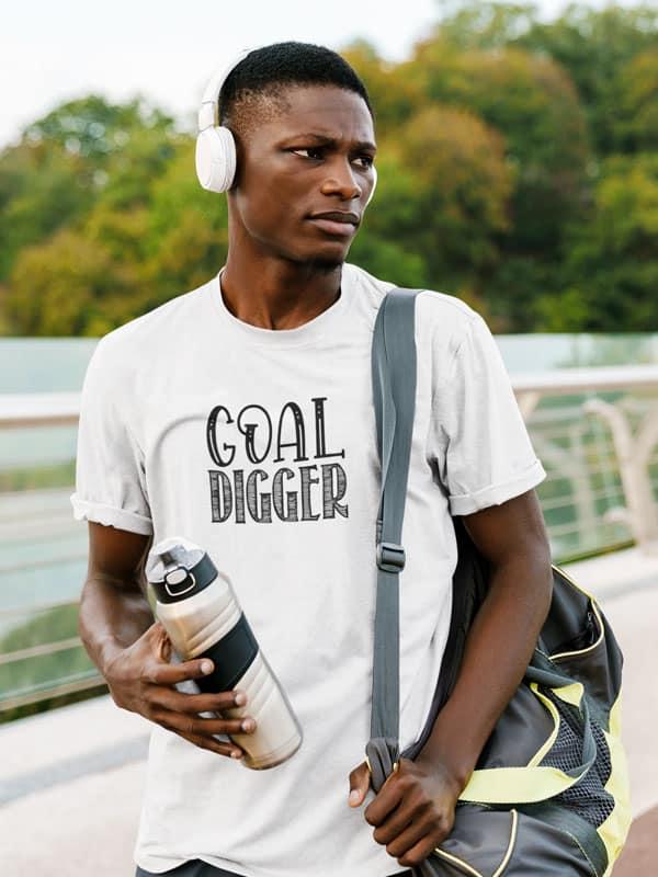 Goal Digger Inspirerende Fitness T-Shirt