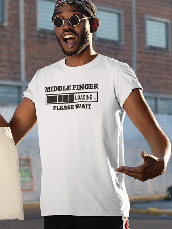 Middle Finger Tekst T-Shirt