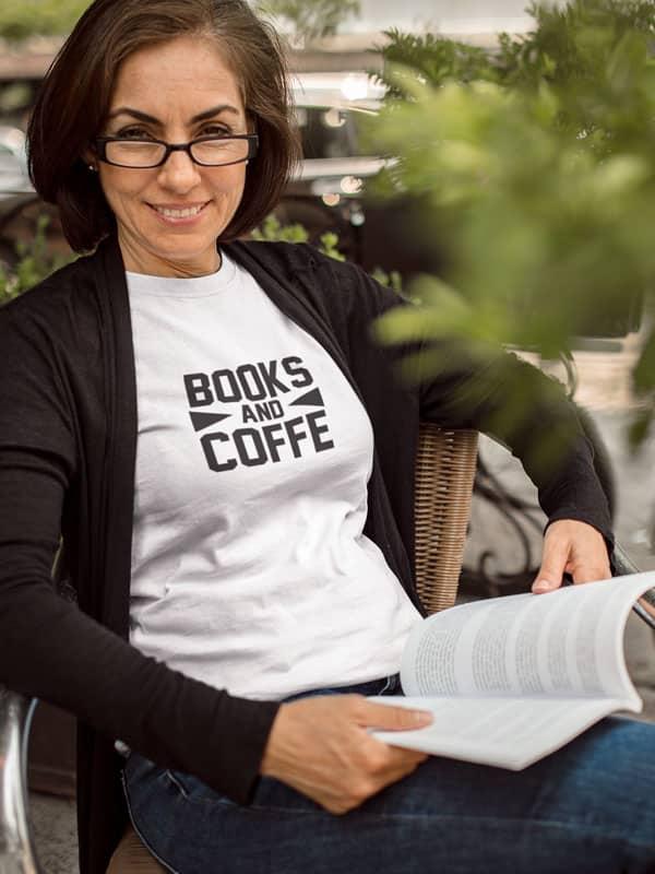 Books and Coffee Shirt